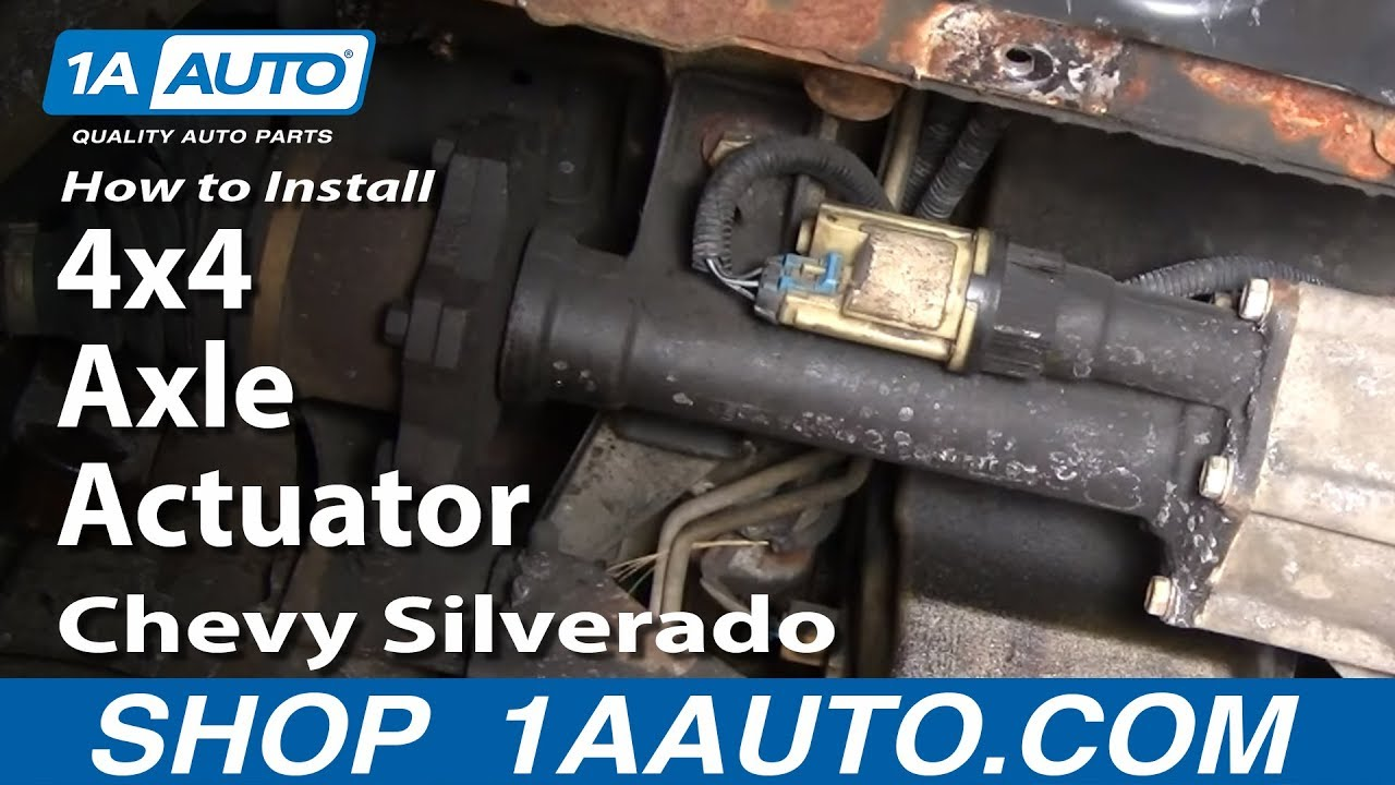how to install replace 4x4 axle actuator chevy silverado gmc sierra rh youtube com