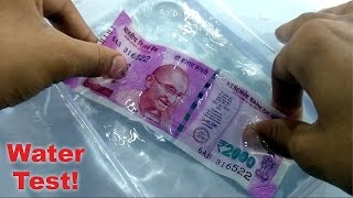 New 2000 Rupee Note Water Test Waterproof? Color Out Or Not?