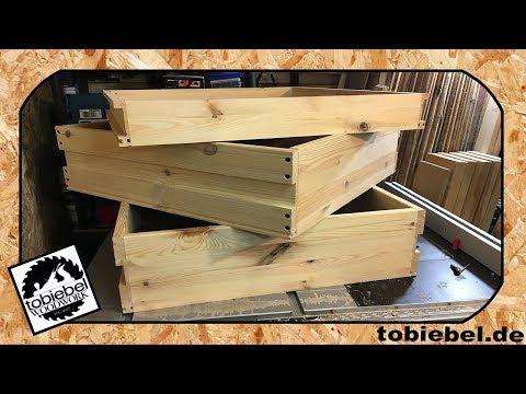 Unterschrank für Tischkreissäge Holzmann TK255 mit Absaugung und Schubladen Untergestell bauen 2/3