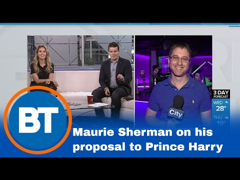 Chatting with Maurie Sherman about his proposal to Prince Harry