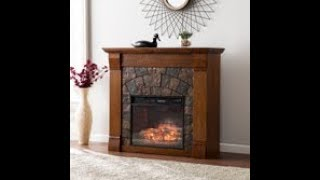 FI9282: Elkmont Faux Stone Infrared Fireplace - Salem Antique  Assembly Video
