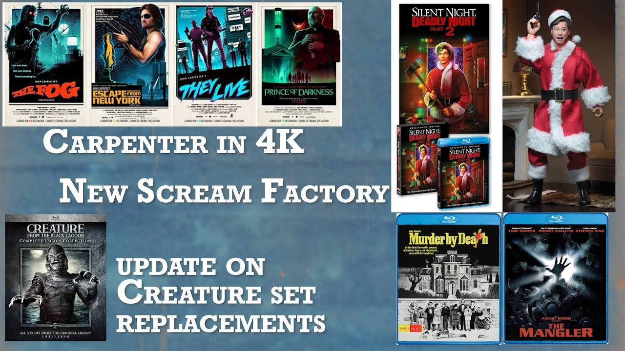 Download New Scream Factory Titles Plus Carpenter In 4K and Update On Revenge Of The Creature