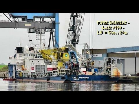 offshore cable layer TOPAZ COMMANDER J8B2641 IMO 9199854 Emden Kabelleger