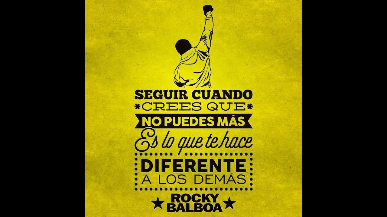 Rocky Balboa Frases Motivacionales Youtube