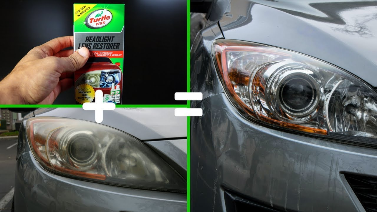 Diy Headlight Cleaner Fast And Easy Youtube