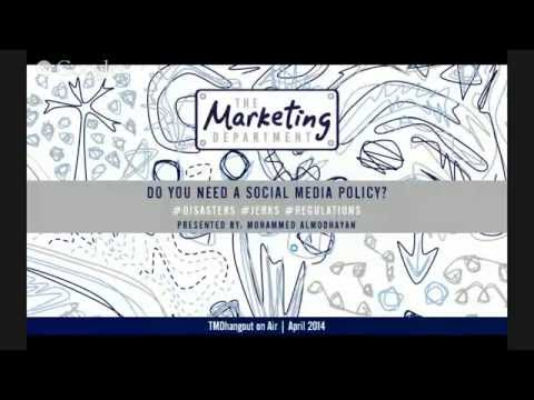 TMDhangout: Do You Need a Social Media Policy?
