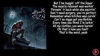 A Boogie Wit Da Hoodie - Come Closer feat Queen Naija- LYRICS