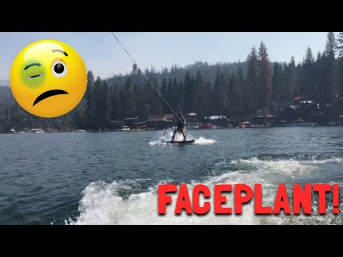 WAKEBOARDING CRASHES (very painful)