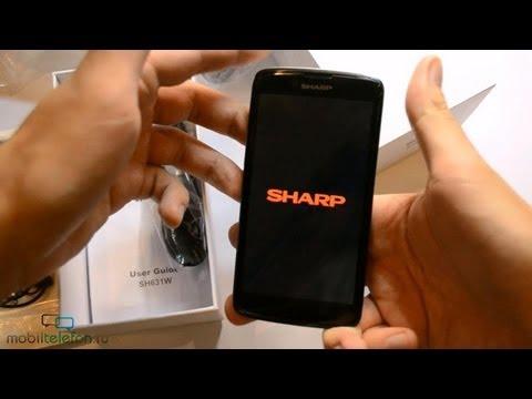 Распаковка Sharp SH631W (unboxing): первое включение, интерфейс