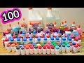 Mezclo 100 pegamentos para hacer slime