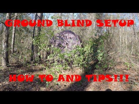 HOW TO SETUP A GROUND BLIND! (GUIDE GEAR SUPER MAGNUM 6-PANEL SPRING STEEL HUNTING BLIND)