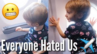 First Plane Ride with a Toddler *chaos* | Teen Mom Vlog
