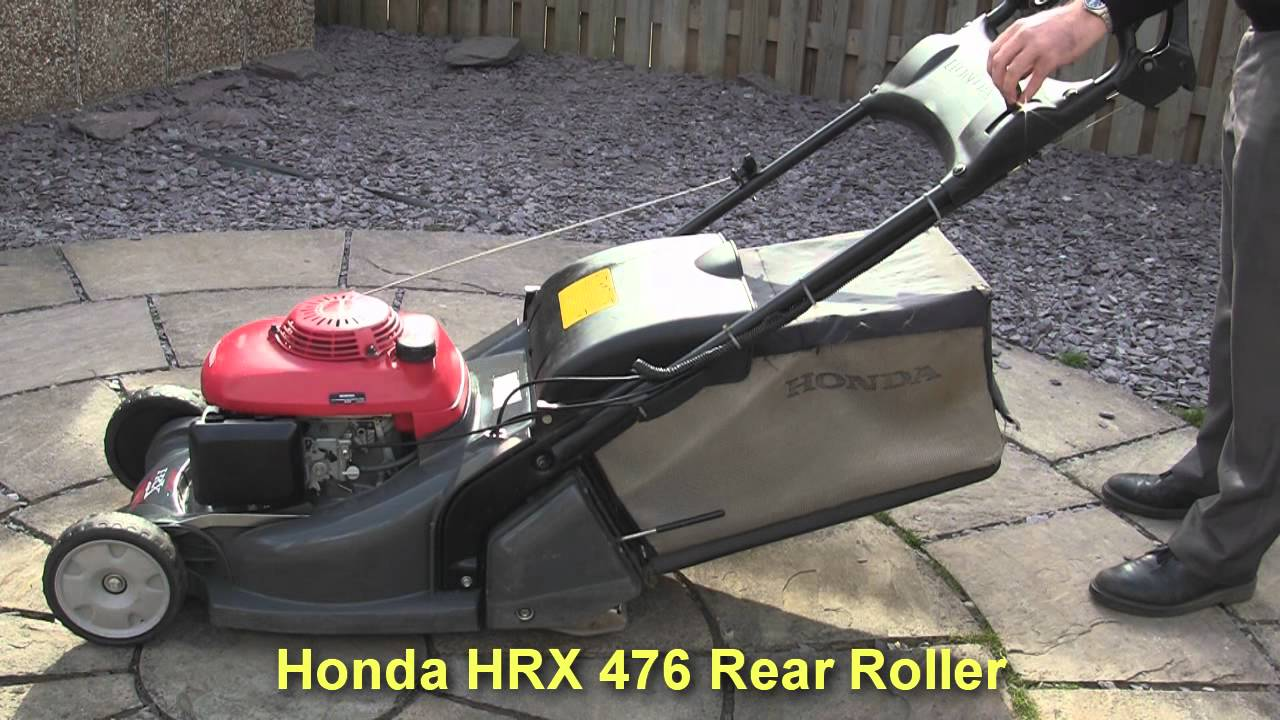 honda hrx 476 petrol lawnmower test review youtube. Black Bedroom Furniture Sets. Home Design Ideas