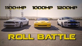 nasty hpe900 c6 zr1 races two 1200hp 1100hp 07 shelby gt500