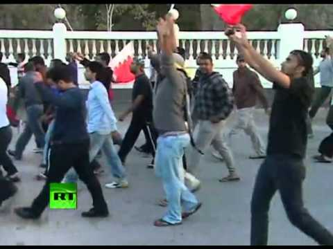 police open fire on protesters in Bahrain