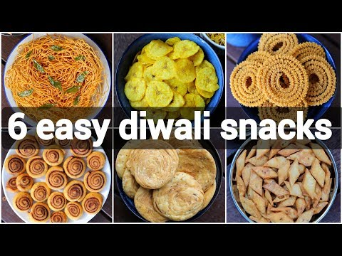 6 Easy Diwali Snacks Recipes | Quick Deepavali Snacks Recipes | Diwali Savouries