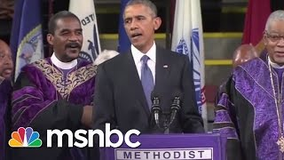 Obama Sings 'Amazing Grace' During Pinckney Eulogy | msnbc thumbnail