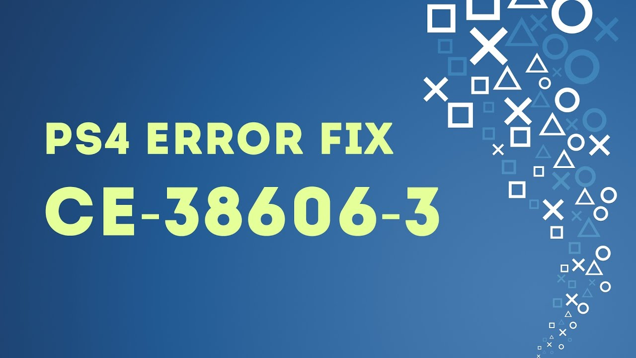 PS4 EASY FIX Error CE-38606-3 Can't Download Themes