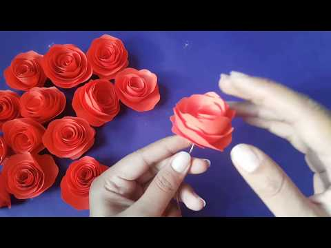 how to make paper Flowers Rose Decoration