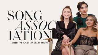 "Kiernan Shipka, Isabel Merced, and Anna Akana ""Let It Snow"" in a Game of Song Association 