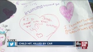 Child dies after getting hit on busy road