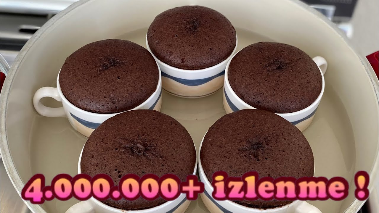 10 Dakika da Evde Sufle Nasıl Yapılır? En Pratik Çikolatalı Sufle Tarifi! | Chocolate Souffle