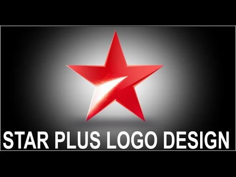 how to make star plus logo design in corel draw - YouTube