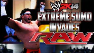 WWE 2K14: The Extreme Sumo Invades RAW!!