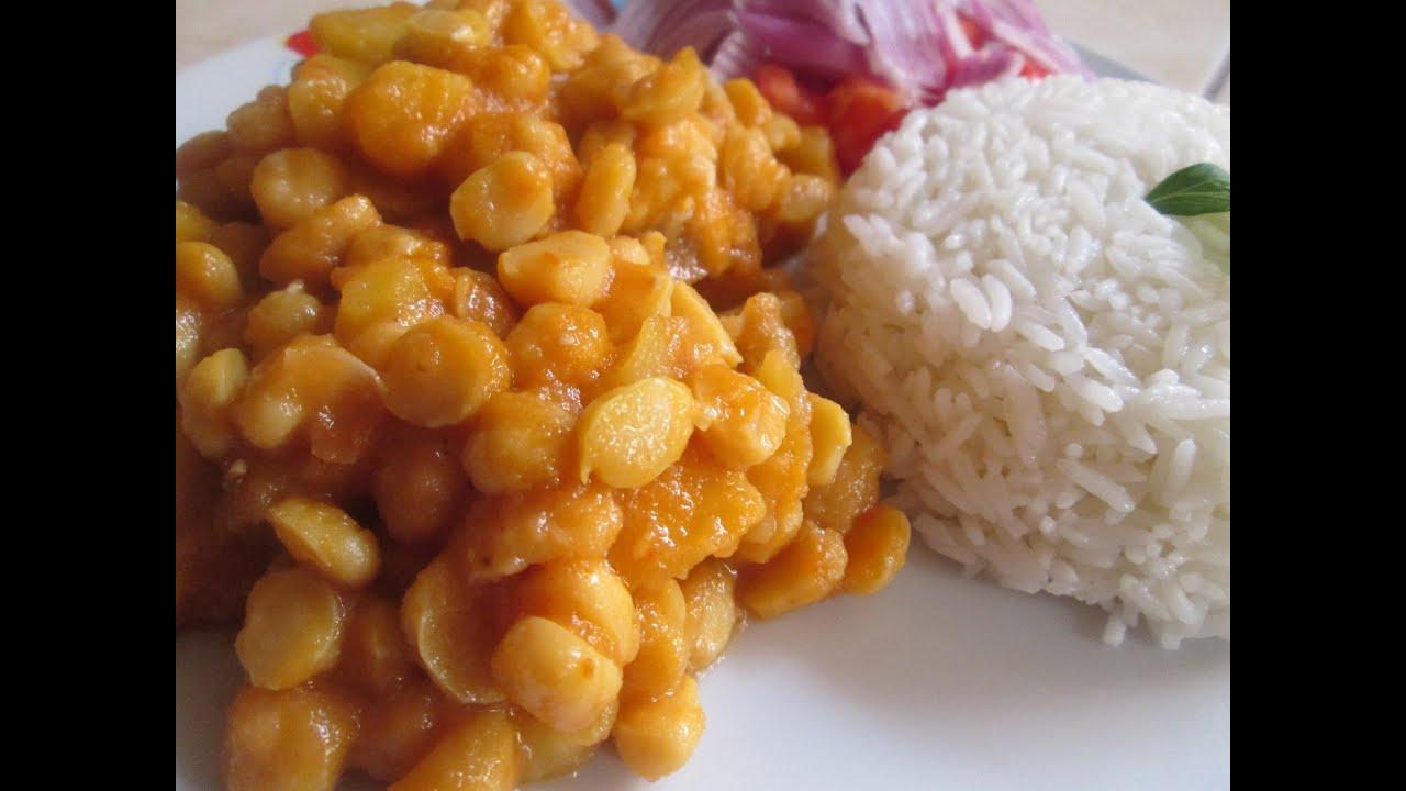Recetas De Cocina Con Garbanzos | Receta Garbanzo Guisado Comida Peruana Youtube
