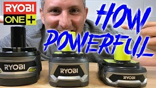 Ryobi One+ Battery Power Test : 18v - 1.5Ah 4Ah 6Ah