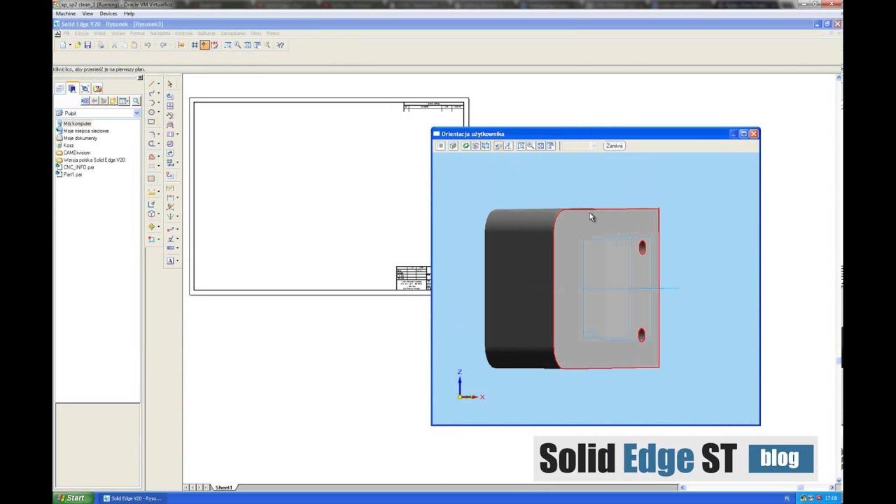 Solid Edge V20 model-dokumentacja