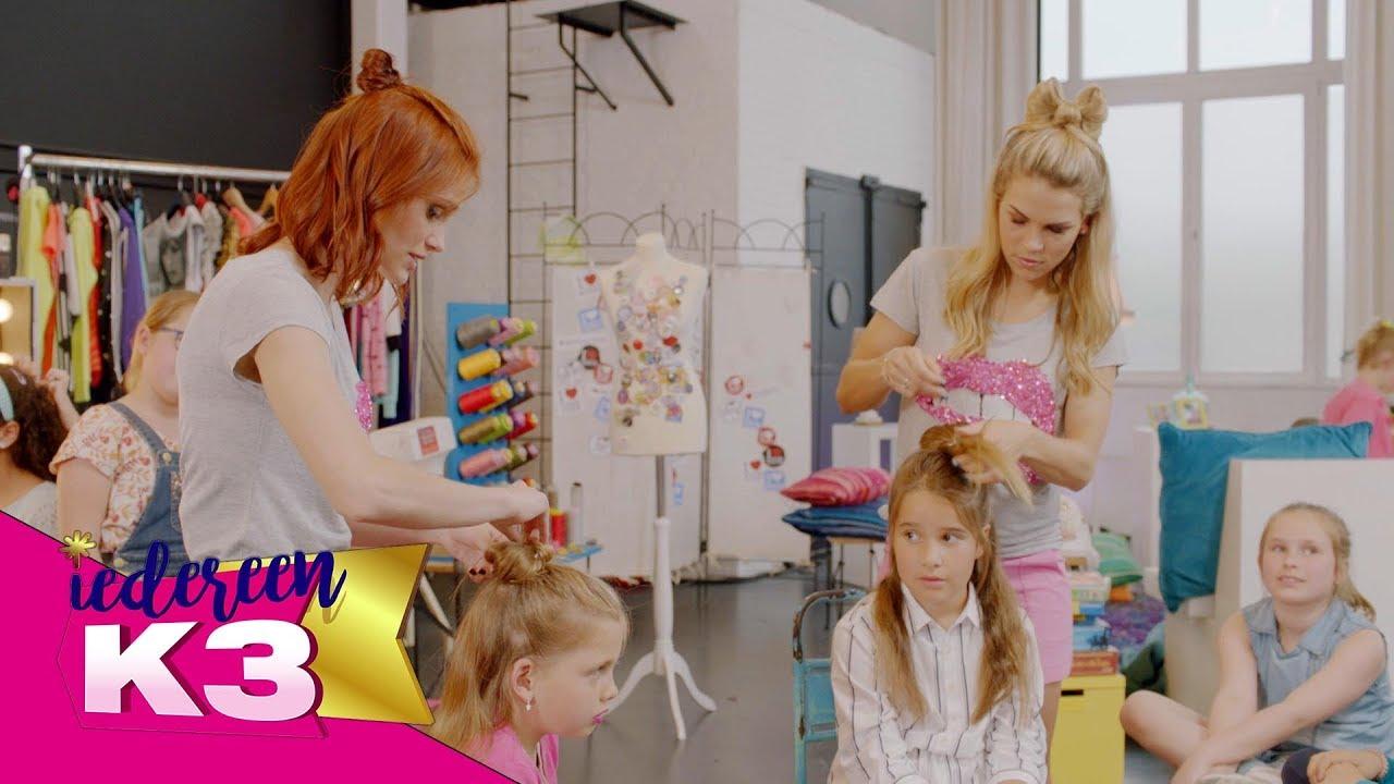 Zo maak een strikje met je haar iedereen k3 youtube for Maak een kledingkast