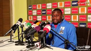 الندوة الصحفية لمدربي النادي الرياضي القسنطيني وتي بي مازيمبي بعد اللقاء