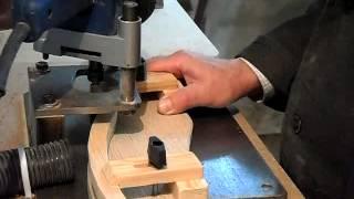 Декоративная рейка ручным фрезером. Decor manual milling cutter.