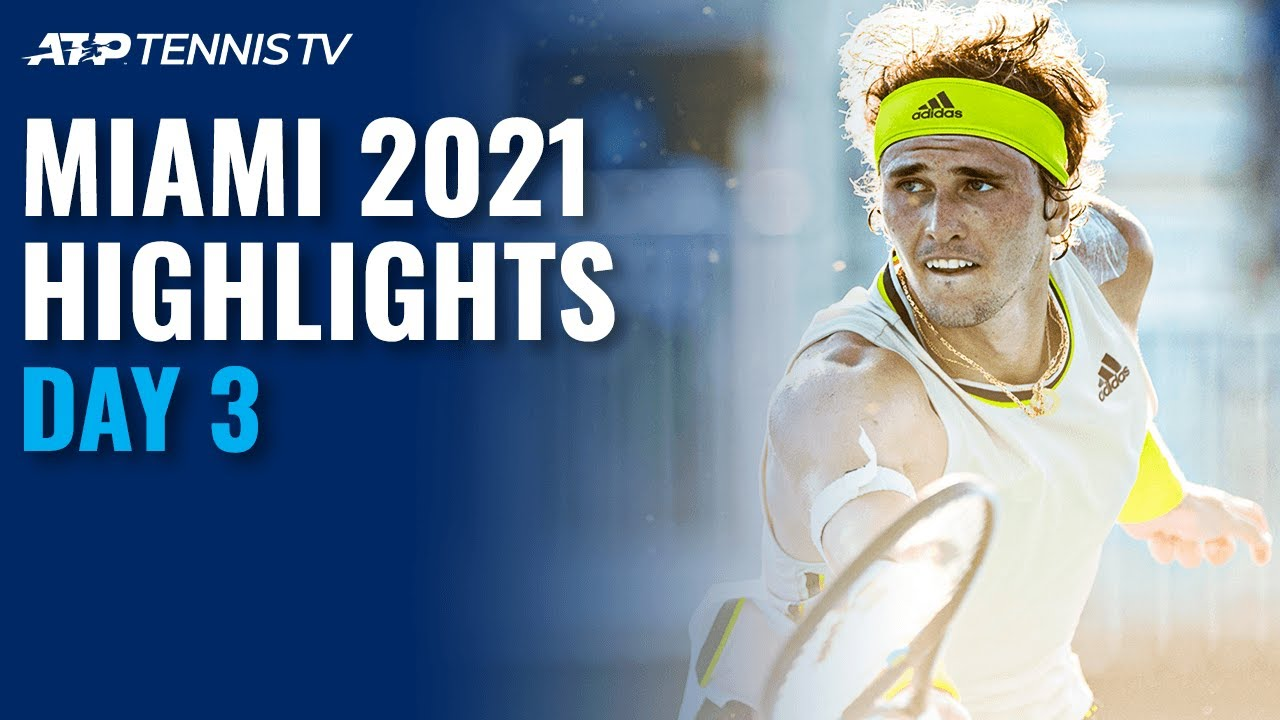Medvedev Faces Lu; Zverev Meets Ruusuvuori | Miami 2021 Day 3 Highlights