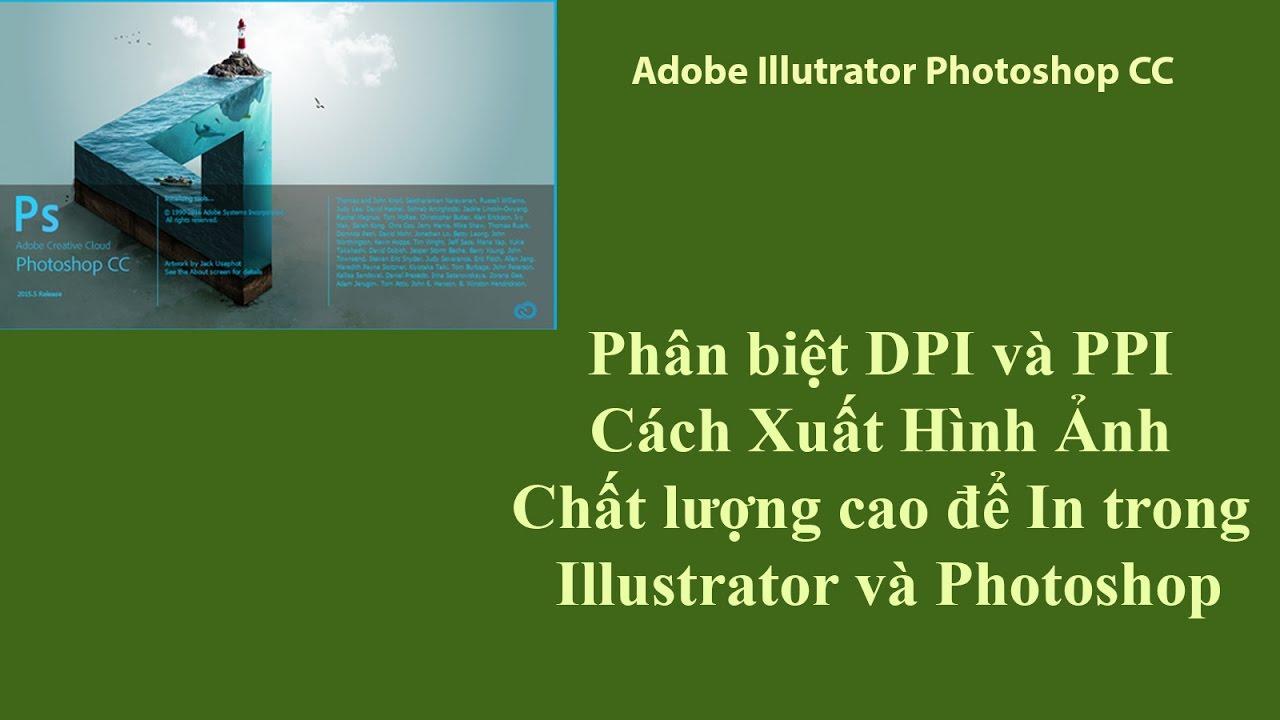 Phân biệt DPI và PPI – Cách Xuất Hình Ảnh Chất lượng cao để In trong Illustrator và Photoshop