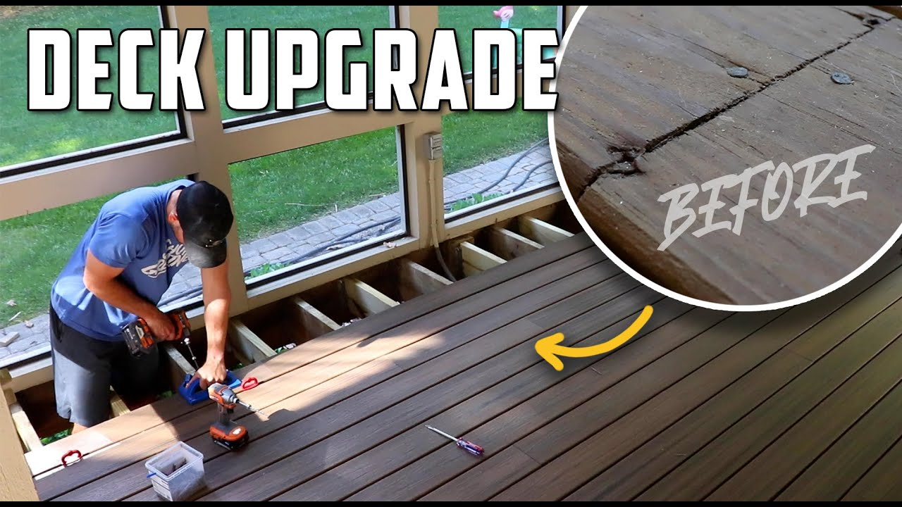 Replacing Old Wood Deck with Composite // Hidden Fasteners