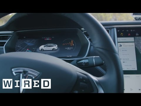 First Look: Tesla's Improved Interface and Autopilot | WIRED