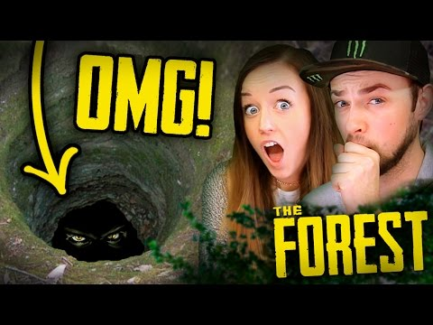 WHAT'S DOWN THE HOLE?!? - The Forest #2 w/ Ali + Clare