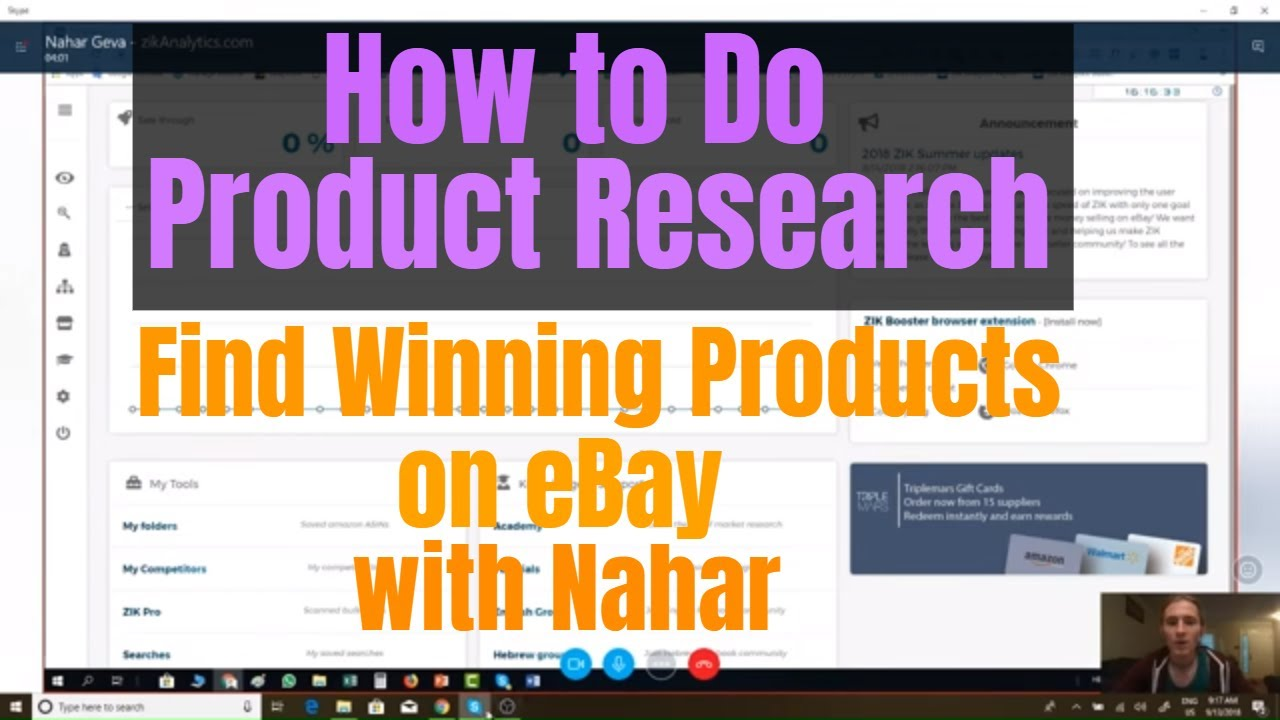 7b4305e2e How To Do eBay Product Research With Zik Analytics With Nahar - YouTube