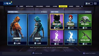 Fortnite : *NEW* OUTFITS Skins in Fortnite ( Item shop release ) LONGSHOT AND INSIGHT REVIEW