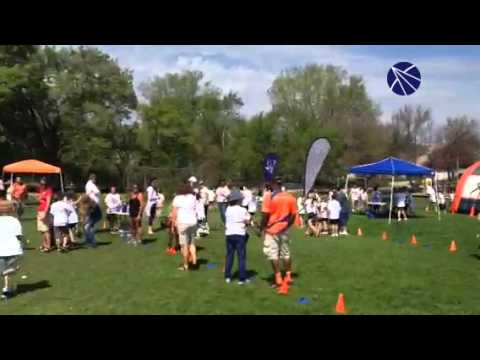South Elementary School kids run laps to raise money for their Crystal Lake school. Video submitted