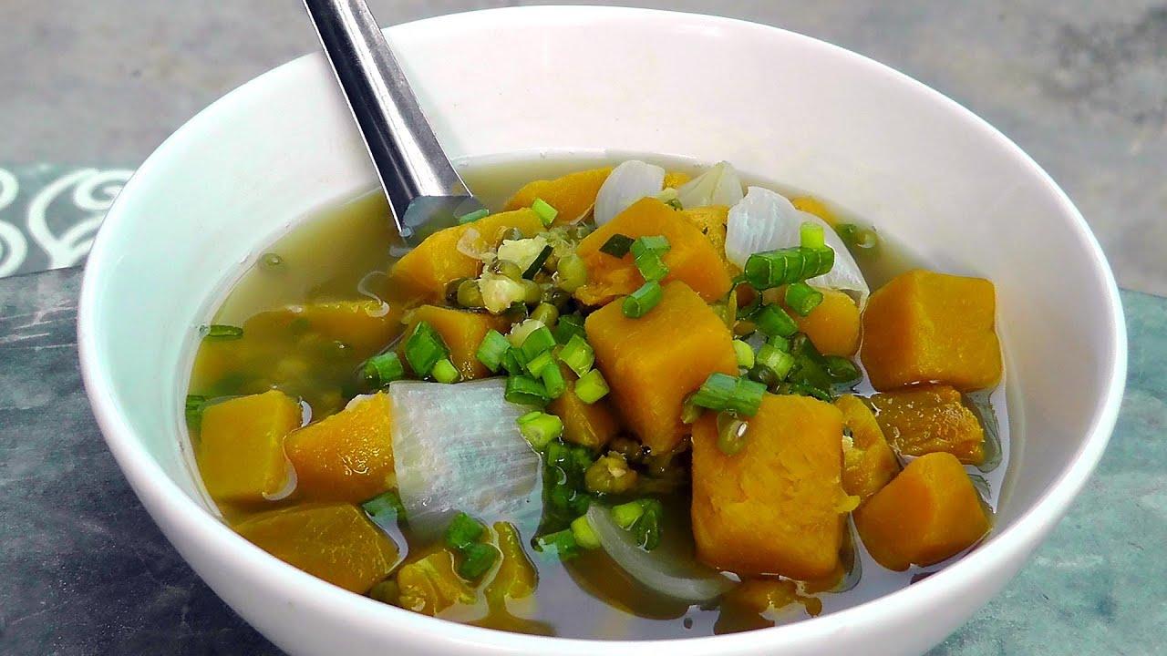 Vegan vegetarian vietnamese recipe kabocha squash mung bean soup vegan vegetarian vietnamese recipe kabocha squash mung bean soup youtube forumfinder Images