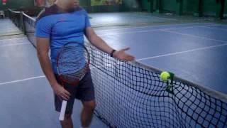 Большой теннис Тренажёр Клипспин  Обучение вращёнию мяча