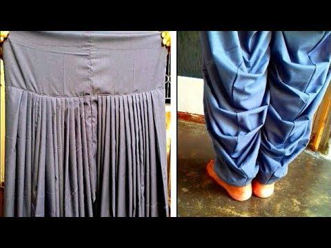 Patiala salwar cutting and stitching in easy way in hindi | Pariala salwar full tutorial