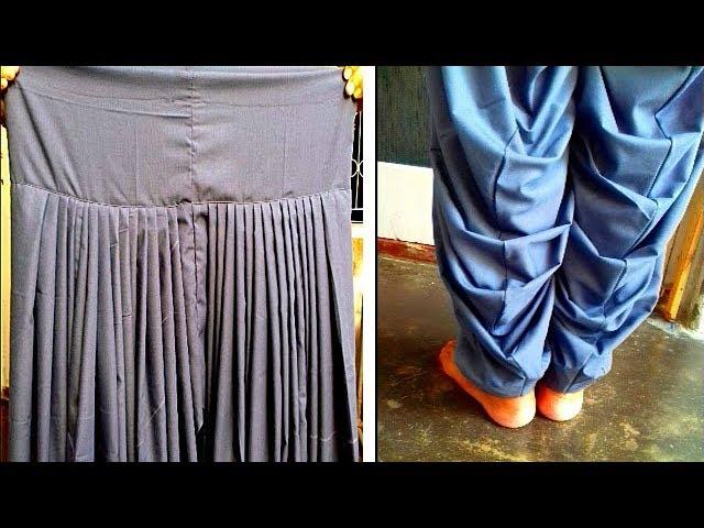 Patiala salwar cutting and stitching | Patiala salwar full tutorial