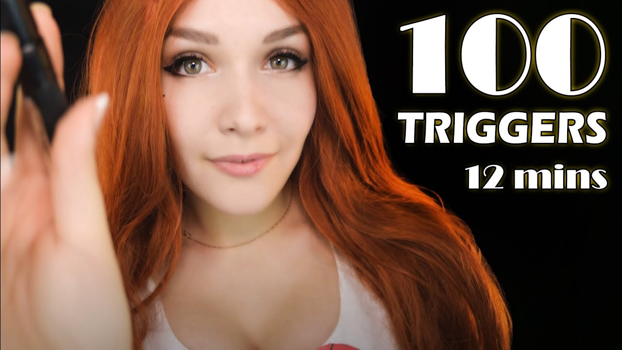 ASMR 100 TRIGGERS in 12 minutes