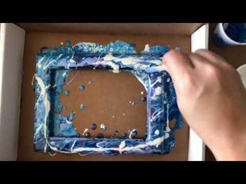 Acrylic Paint Pour: Photo Frame