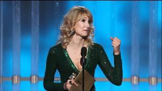 Laura Dern Wins Best Actress TV Series Comedy Or Musical - Golden Globes 2012