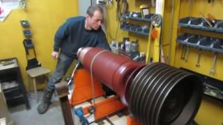 БАЛАНСИРОВКА якоря электродвигателя постоянного тока 160кВт со шкивом
